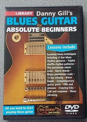 Lick Library Danny Gill's Blues Guitar For Absolute Beginners  DVD