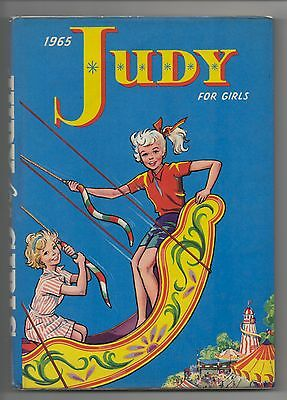 DC Thomson  - Judy for Girls Annual  - 1965 - DUST JACKET - SUPERB!!!