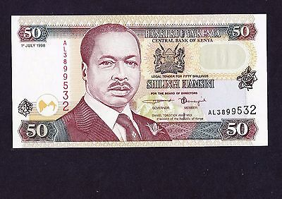 Central Bank of Kenya Fifty Shillings Banknote UNC 1998