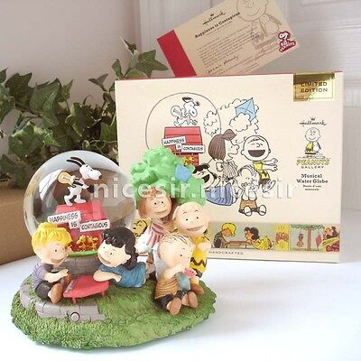 Hallmark Peanuts Snoopy Happiness Contagious Limited Musical Water Snow Globe