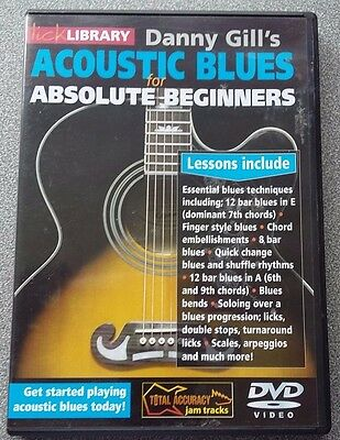 Lick Library Danny Gill's Acoustic Blues For Absolute Beginners DVD