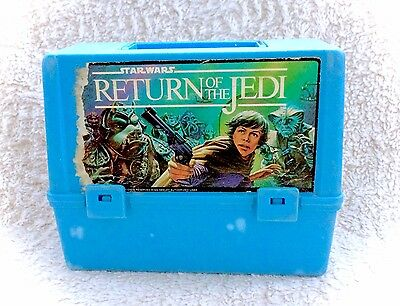 Vintage 1983 Star Wars Return Of The Jedi Thermos Plastic Lunch Box Pail Canada