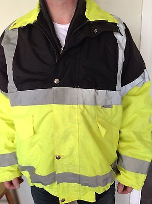 Men's Lined High Visibility Jacket Size XL