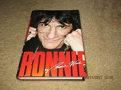 RONNIE WOOD / ROLLING STONES / HARD COVER AUTO BIOGRAPHY / W DUST JACKET book
