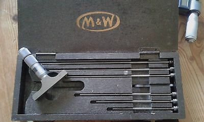 """Moore and Wright 0""""-6"""" depth micrometer set"""