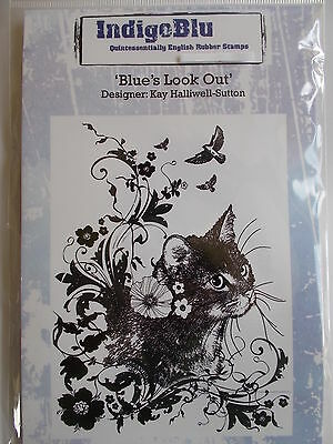 Indigoblu Cling Mounted Rubber Stamp - Blue's Look Out