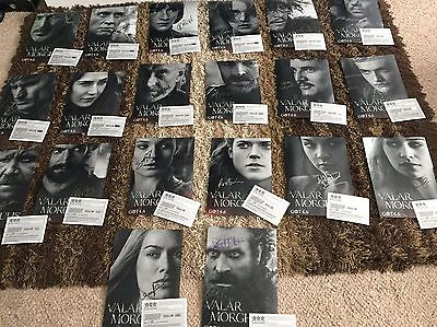 Game Of Thrones Rare!! Signed By Cast - A4 Photos With Coa