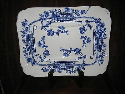 ANTIQUE AESTHETIC WARE SERVING PLATTER BROWN WESTHEAD MOORE MANILLA c 1862-1870