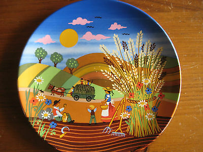 Vintage Poole Pottery Collector Plate Titled  422 Summer Signed