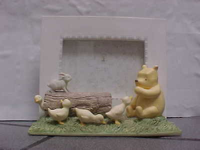 Michel & Co. Classic Winnie Pooh & DUCKS & BUNNY  Picture Frame Baby Nursery