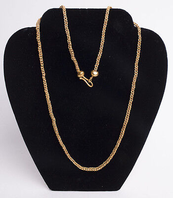 Roman Style High Karat Gold Chain Necklace. Size 26 inches length. weight 30.22