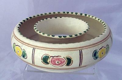 Honiton Pottery Floral Pattern Posy Ring Flower Bowl Post Collard in Earthenware