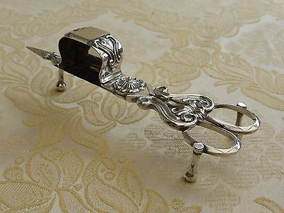 Victorian Silver Plated Footed Wick Trimmer/candle Snuffer  #1270694/701
