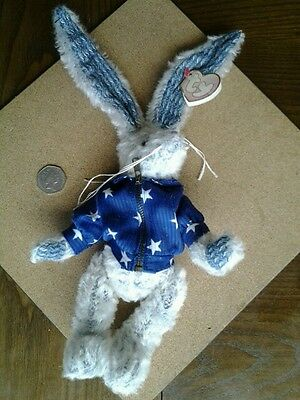 Ty HARE /BUNNY /RABBIT~The Attic Treasures Collection-Washington~RARE~100%RATING