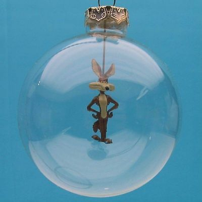 WILE E COYOTE HAND BLOWN GLASS made Christmas TREE GIFT ORNAMENT WARNER BROTHERS