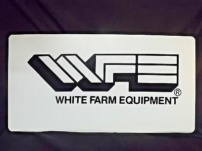 vintage WFE WHITE FARM EQUIPMENT advertising sign AGRICULTURE TRACTOR feed seed