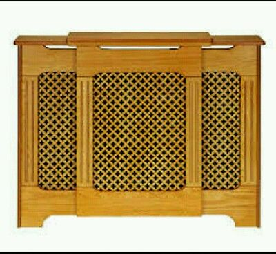 Traditional Classic Honey Oak veneer Large Adjustable Radiator Cover/Cabinet.
