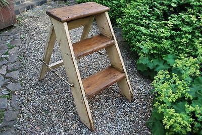 vintage country shabby chic folding pine steps stand
