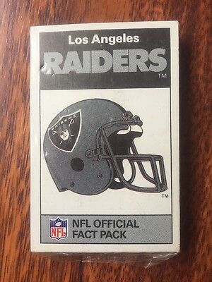 Ace NFL FACT Pack Los Angeles Raiders 1987 LA Bo Jackson Top Trumps Set