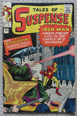 TALES OF SUSPENSE #50, IRON MAN & 1st MANDARIN, A SILVER AGE CLASSIC