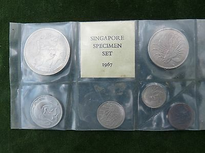 Set On 1967 Singapore Coins