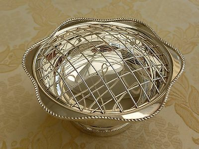 Arthur Price Vintage Silver Plated Rose Bowl With Grille   #1270635/639