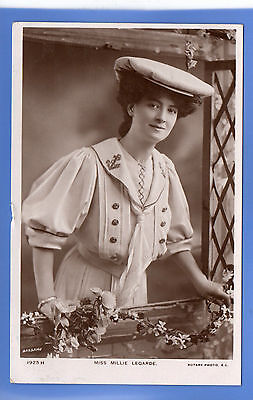 Old Vintage 1906 Rp Postcard Edwardian Actress Miss Milly Legarde
