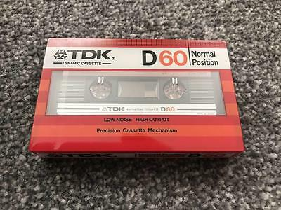 Brand New Sealed x1 TDK D 60 Blank Cassettes Tape 1982 TYPE 1 FREE UK SHIPPING