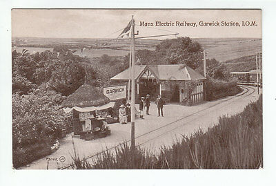 Garwick Station (Demolished 1979) Manx Electric Railway Isle Of Man 1912 IOM