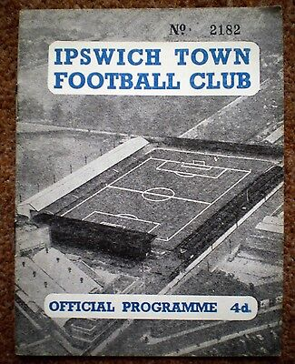 IPSWICH TOWN v CARDIFF CITY 1959 1960 Division Two Rare FOOTBALL PROGRAMME