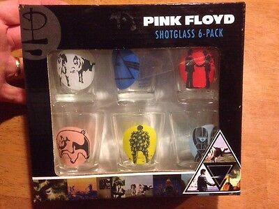Pink Floyd Shot glass 6 Pack 2010 Icup S2bn Entertainment Unopened Collectible