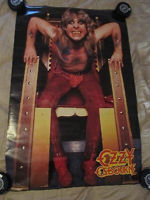 Ozzy Osbourne Vintage Poster 1982 Speak Of Devil Diary Of Madman Rare Original
