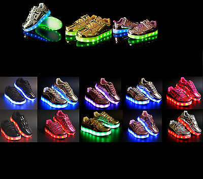 New Baby Toddler Light Up LED Shoes USB Rechargeable 7 Color Mode Casual Sneaker