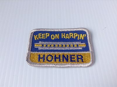 """Hohner Harmonica Co """"Keep on Harpin"""" Patch"""