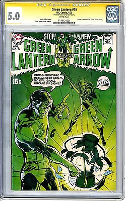 Green Lantern  #76  CGC  5.0   VGF   white pages  Signed by Neal Adams
