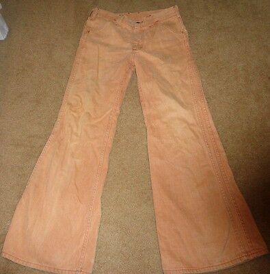 LEE vintage men's 1970's 70's pants bell bottoms