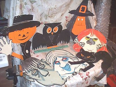 Vintage Halloween Decorations Lot 1- Used- Colorful And Neat Variety- Low Price