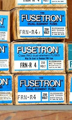 FRN-R-4 Amp FUSETRON Time Delay BUSSMANN Class RK5 Fuse NEW Lot of 10 250V