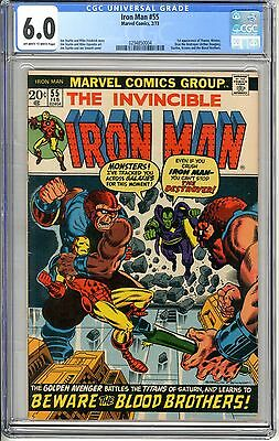 Iron Man  #55  CGC  6.0  F   off - white to white pages