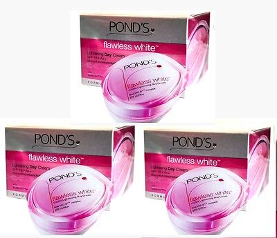 3 X POND'S (PONDS) Flawless White Lightening Day Cream With Sun Protection 50g