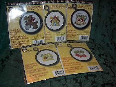 Mary Engelbreit Counted Cross Stitch Kits-Set Of 5-New