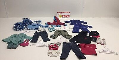 American Girl Doll - Lot Of 5 Outfits With Accessories - EUC