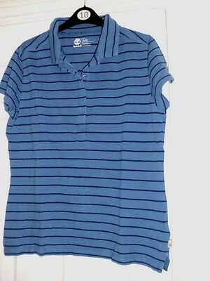 Timberland Ladies Polo Top T-Shirt - Size Large Regular Fit