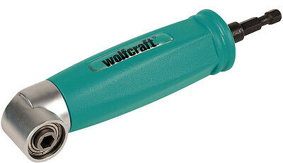 "Wolfcraft Right Angle 1/4"" Drive Screwdriver - Bit Attachment - 4688000"