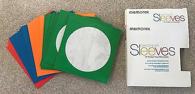 Memorex Color CD & DVD Sleeves - 26 Total