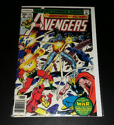 The Avengers #162 Showdown with Ultron! Bronze Age 1977 VF-