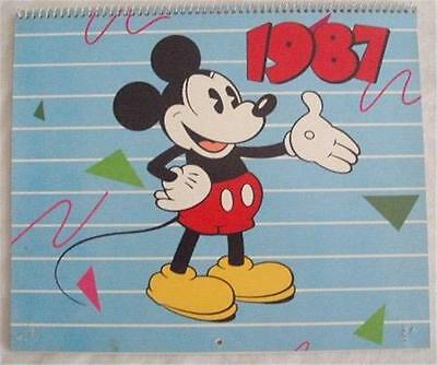 Vintage 1987 MICKEY MOUSE & His Famous Friends Calendar