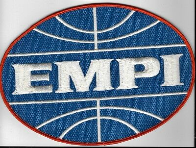 ORIGINAL VINTAGE EMPI VW CLOTH PATCH  - TWILL BACK  - LARGE 8 1/2 x 6 INCH