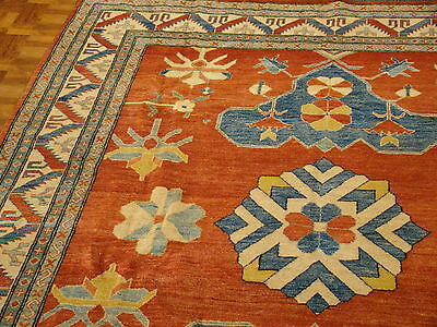 L@@K 100% Authentic Hand-Made Kazak Area Rug Best Colors & Quality Must See L@@K
