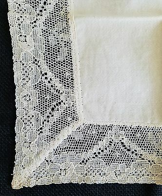 A3 Vintage Bridal Wedding Baptismal Linen Lace Floral Flower Hanky Hankies